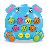 Juguetes musicales de plástico para bebés y niños, juego de insectos para hámster, juego de gusano de la fruta, instrumentos musicales educativos