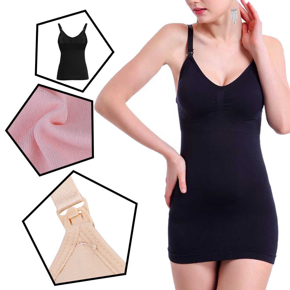 5822153aac041 Newest Sexy Women Slim Breastfeeding Tank Top with Built-in Nursing Bra  Maternity Vest Undershirt