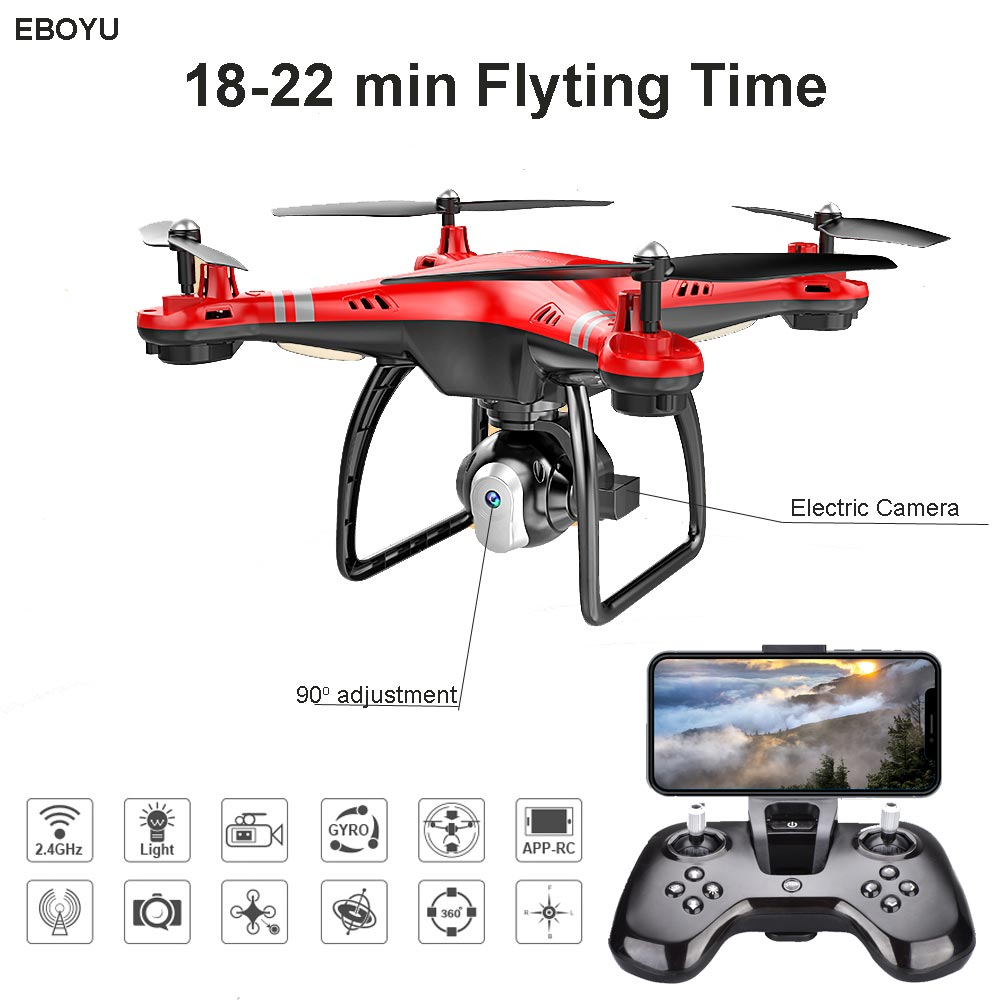 EBOYU X8 RC Drone w/ Wifi FPV HD Adjustable Camera Altitude