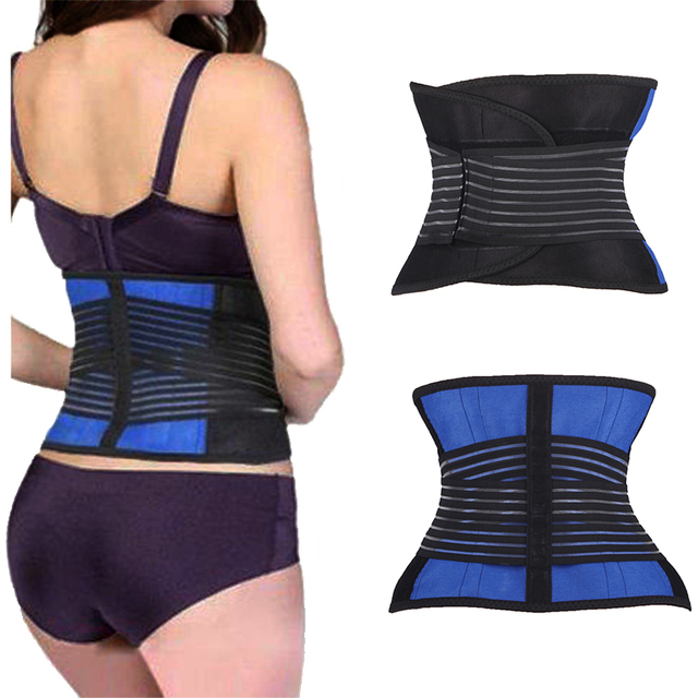5388090cda Breathable Lumbar Support Waist Trainer Belt Mens Womens Body Shaper Belt Slimming  Control Tummy Adjustable Workout Girdle