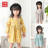 Girl Stars Stripe Dress 2017 Spring Clothes New Pattern Children S Garment Children Baby Small Fresh