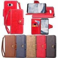 Retro Wallet Mobile Phone Bag For Samsung Galaxy S8 Flip Cover For Samsung Galaxy S7 S6