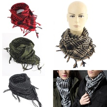 New 100x100cm Tactical Arab Desert Shemagh Scarf Polyester Plaid Printed