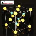Развивающие Игрушки 30 мм сфалерите ZnS модель Кубических сульфида цинка Кристаллическая структура Модель Химия Молекулярное Моделирование цинковой обманки