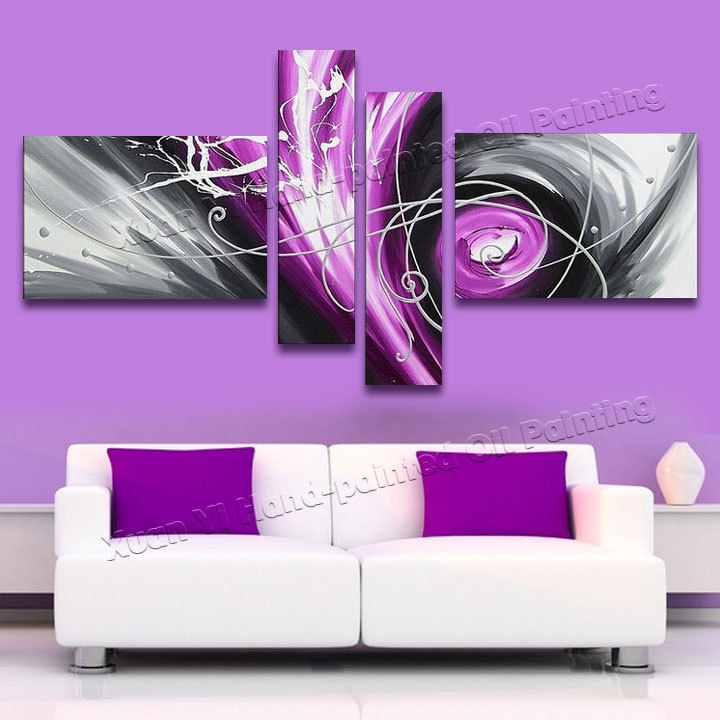 4 piece wall art sets hand painted baroque style modern abstract oil painting canvas wall art