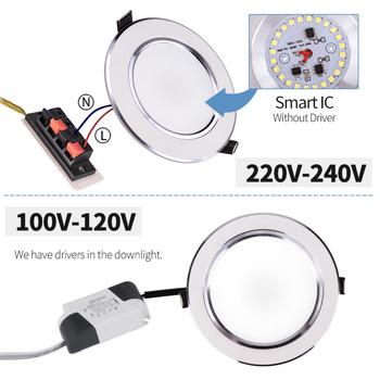 LED Downlight 3W 5W 7W 9W 12W 15W Round Recessed Lamp 220V 230V 240V 110V Led Bulb Bedroom Kitchen Indoor LED Spot Lighting