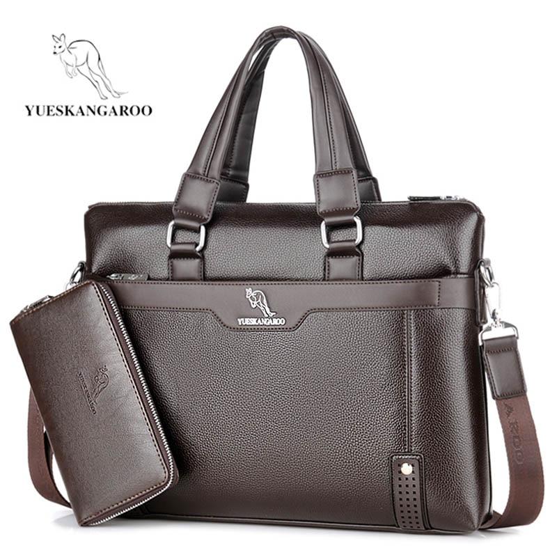 YUESKANGAROO Känd Brand New Design Mäns Briefcase Satchel Väskor - Portföljer