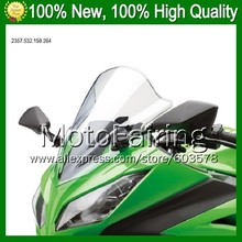 Clear Windshield For KAWASAKI NINJA ZZR-1200 ZZR 1200 ZZR1200 02 03 04 05 2002 2003 2004 2005 *13 Bright Windscreen Screen