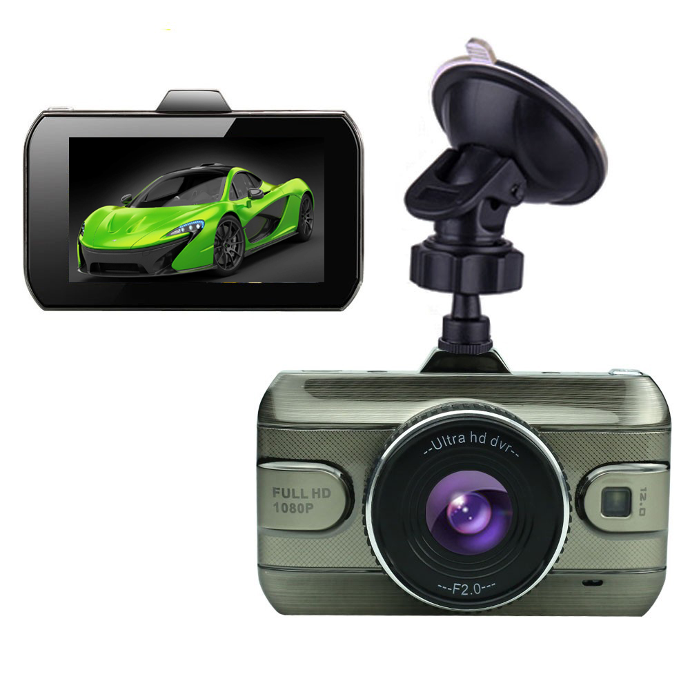 2018 Auto 3.0 Inch Dual Lens Dash Cam Car DVRs Camera FHD 1080P 170 Degree Registrator Recorder Rearview Cameras Night Vision