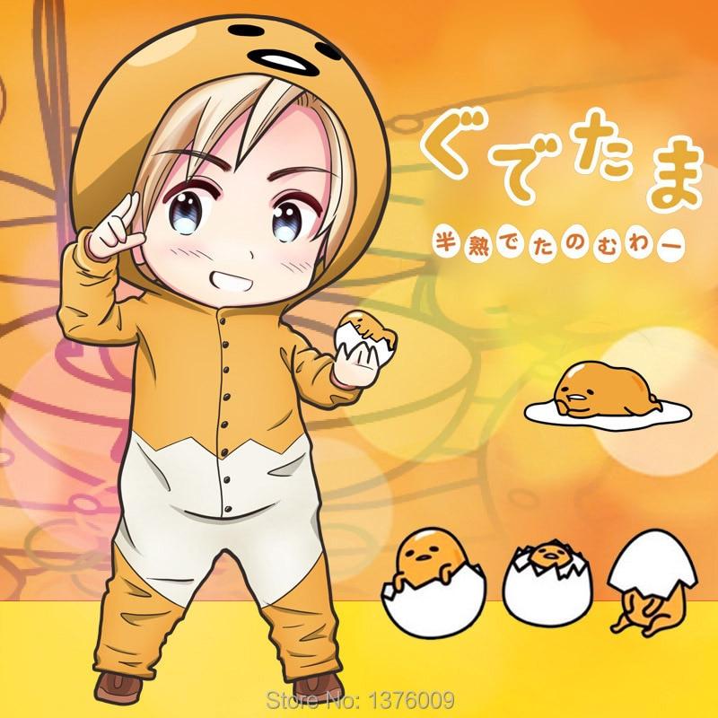 Gudetama Overall Pyjama Strampler Cosplay Egg Yolk Onesie