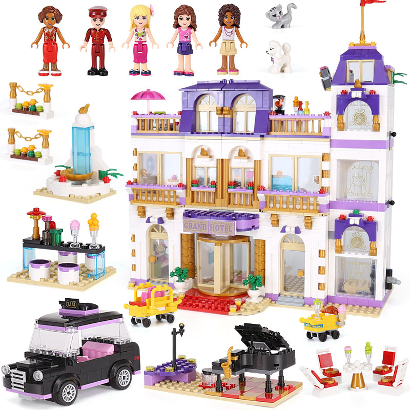 Lepin 01045 Friends Heartlake Grand Hotel Popular Building Blocks Bricks Educational Toy For Kids Compatible with Lego41101 lepin 01045 1676pcs girls series heartlake grand hotel set children eucational building blocks bricks toys model gift 41101