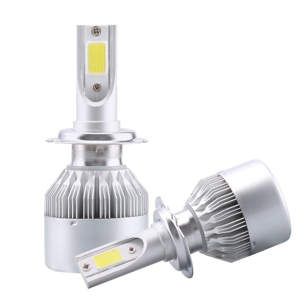 2x h7 conduziu faróis do carro h4 80w 8000lm carro conduziu lâmpadas h1 h8 h9 h11 automóveis farol 6000 k led 12v nevoeiro lâmpadas c6 led