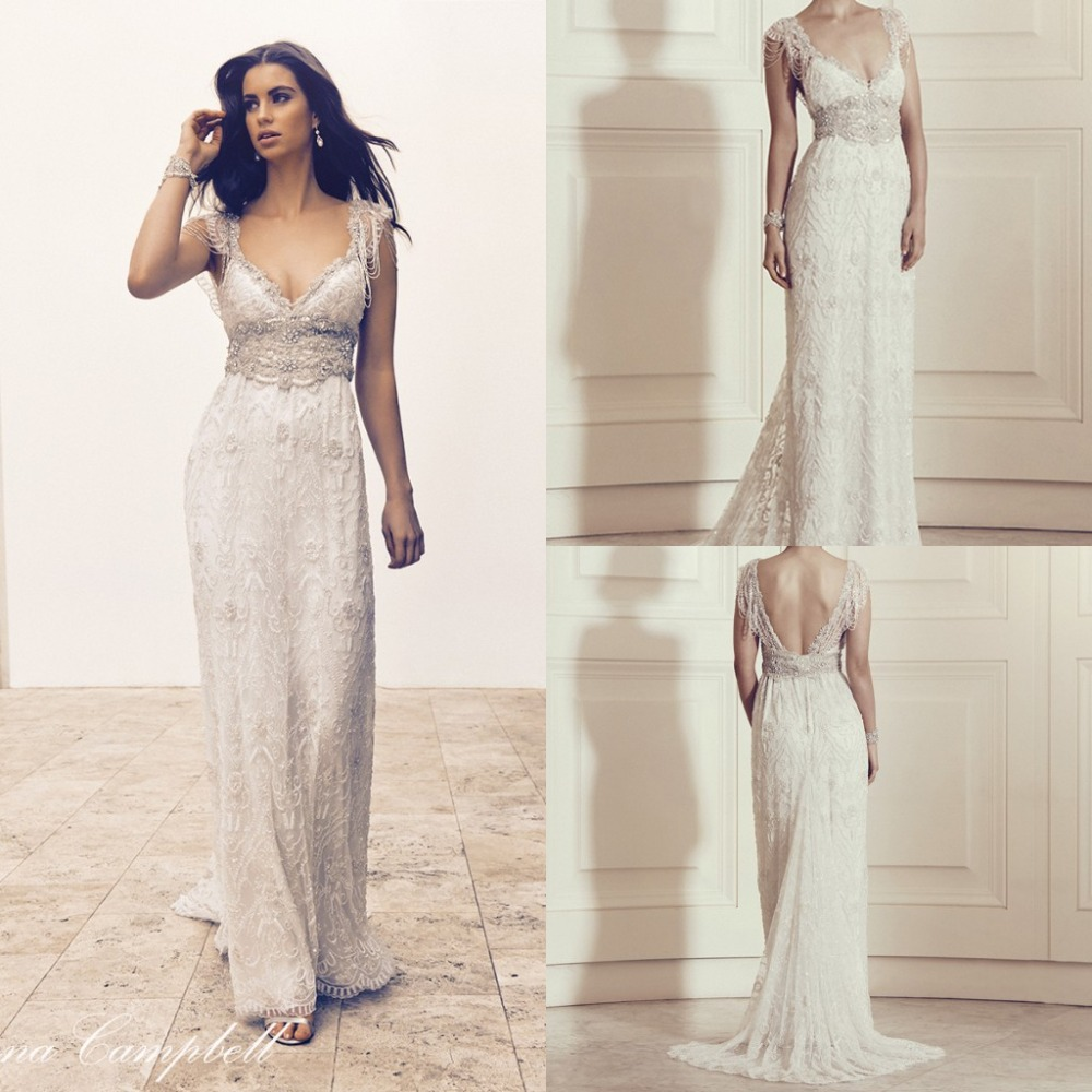 2016 vintage wedding dresses a line backless plus size for Vintage backless wedding dresses