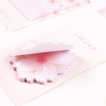 лучшая цена 1pack/lot Romantic Style Memo Cherry Sticky Note Decorative Paper Memo Pad Bookmark DIY Message Label For School And Office