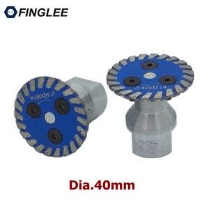 3 шт. мини алмазные пильные лезвия 1,5 дюйма/40 мм для гранитных режущих инструментов турбо алмазный диск с резьбой M10 M14 5/8-11 фланец
