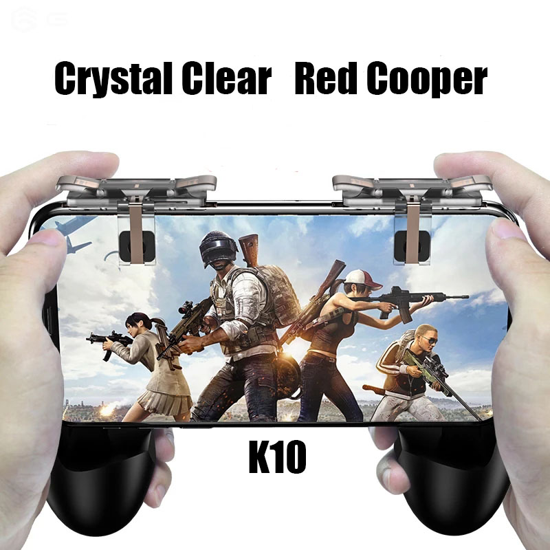 Smart phone Mobile Gaming Trigger L1R1 Shooter Controller Knives out Rules of Survival Mobile Game Fire Button Aim Key With K10