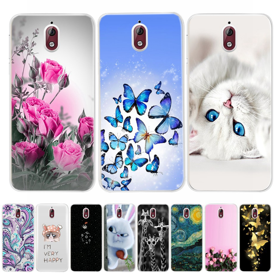 For Nokia 3 2018 Case Nokia 3.1 Case Soft Painting TPU Silicone Cover Back Phone Case For Nokia 3.1 TA-1063 TA-1057 5.2 Inch