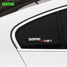 2pcs Car Revo Gameover Sticker For Volkswagen Revo Golf 6 Golf 7 Polo Sagitar B6 R36
