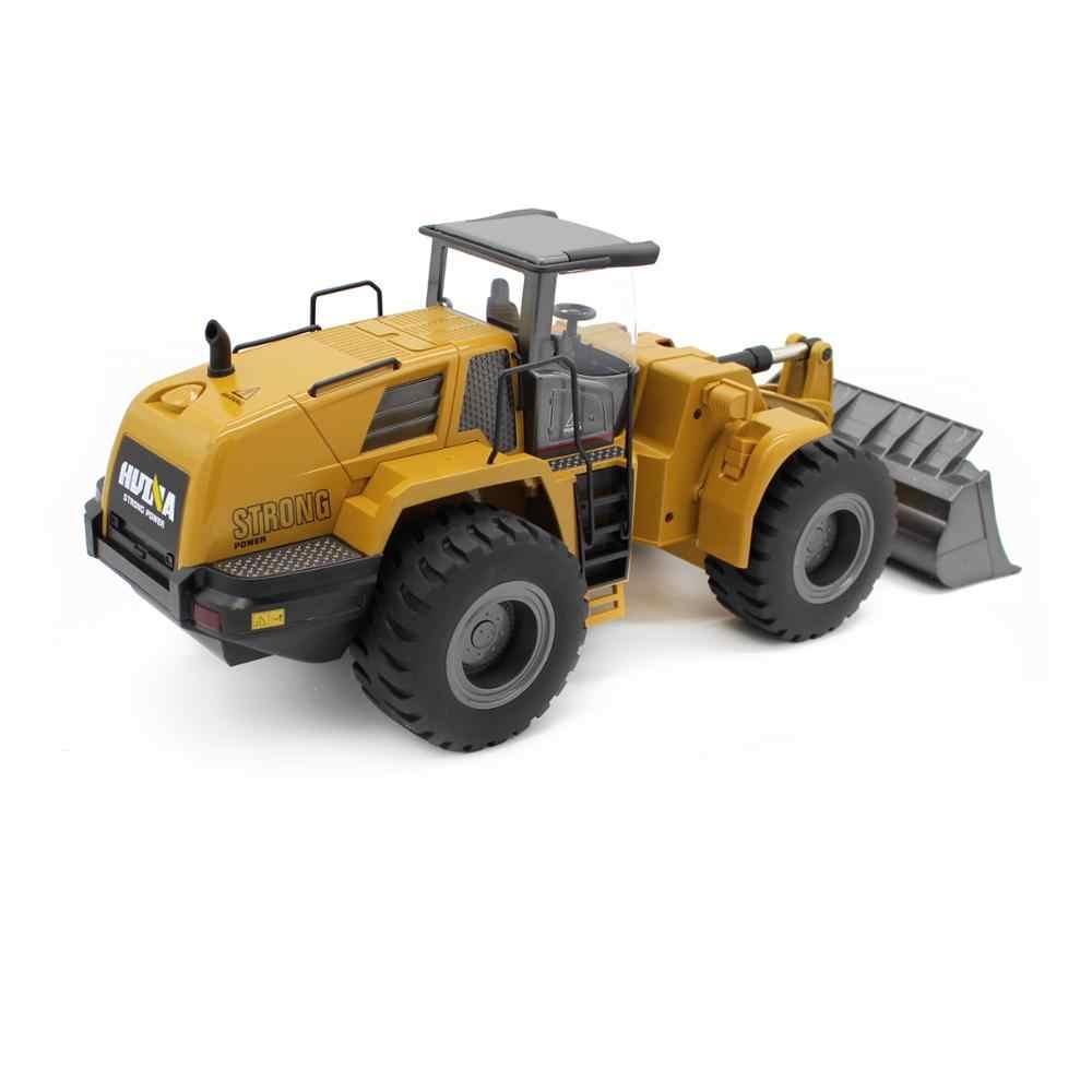 Besar Truk RC Hobby Bulldozer Paduan Truk Remote Control Mainan untuk Anak Laki-laki Mobil RC Hidrolik Off Konstruksi Jalan RC Mainan 1583