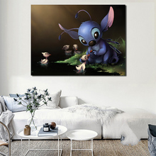 Lilo Stitch Anime Movie Wallpaper HD Wall Art Canvas Posters Prints Painting Oil Wall Pictures For Living Room Modern Home Decor beauty beast movie wallpaper wall art canvas posters prints oil painting wall pictures for bedroom modern home decor accessories