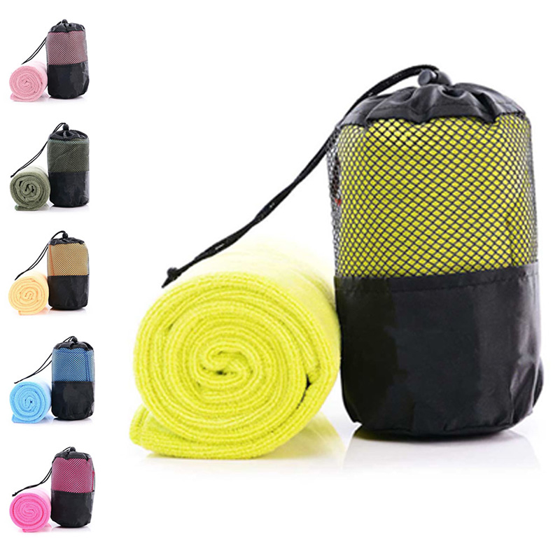 30x100cm Large Size Sports Towel Microfiber Gym Yoga Swimming Sweat Absorb Towel With Bag @LS