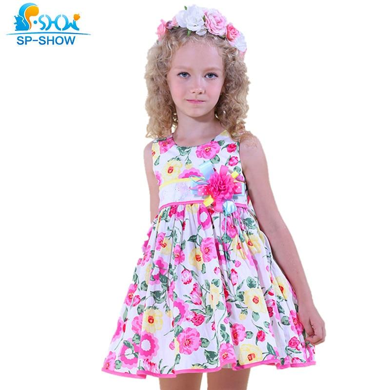 Girls Summer Dress For 5-13 Age Reine Des Neiges Girl Clothes Children Clothing Girl Dresses 9482