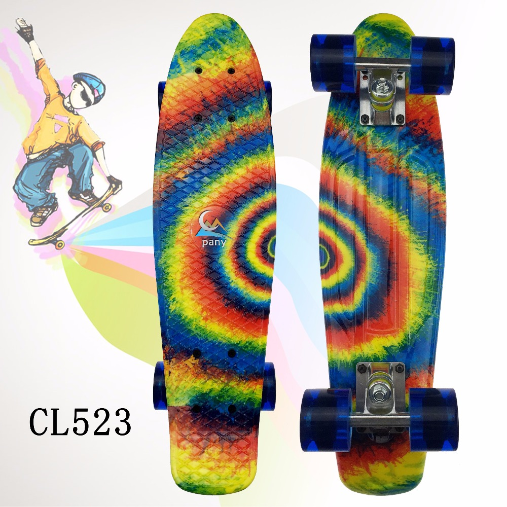 2016 22 Multi Banana Board color mixed Cruiser Skateboard Retro Mini Skate Long Board Small Plastic Longboard Complete Skates peny skateboard wheels longboard 22 retro mini skate trucks fish long board cruiser complete tablas de skate pp women men skull