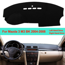 Samochód wnętrze deska rozdzielcza pokrywa mata na deskę rozdzielczą dywan poduszki parasol przeciwsłoneczny deska rozdzielcza Pad dla Mazda 3 Mazda3 M3 BK 2004 2005 2006 2007 2008 tanie tanio ZJZKZR Włókien syntetycznych For Mazda 3 Mazda3 M3 BK 2004 2005 2006 2007 2008