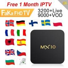 IPTV France IPTV Spain Free 1 Month IPTV Code MX10 RK3328 Android 8.1 TV Box Arabic Canada IP TV Europe UK Turkey Portugal IP TV