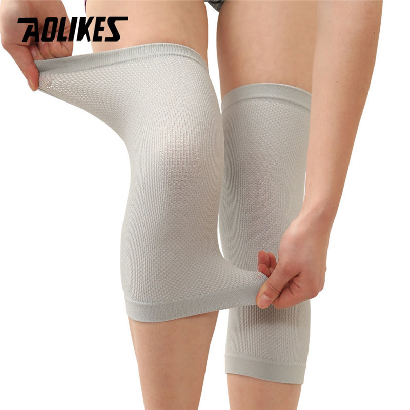 Warm Leggings Men Women Nylon Thin Knee Brace Autumn Winter Kneepads Sports Cycling Running Elastic Leg Sleeves Knee Guard