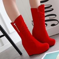 Hot Sale In The New Fashion Black Red Women Boots Heels Boots Diamond Zipper Knight Frosted