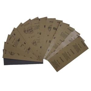 """Image 3 - Papier abrasif étanche 42 pièces 320 à 10000 grain, 9 """"x 3.6"""", pour la finition de meubles en bois, le ponçage des métaux et le polissage automobile"""