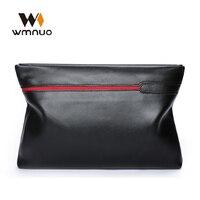 Wmnuo Brand Men Wallet Clutch Bag Men Hand bag Genuine Leather Cowhide High Quality 2018 Fashion Casual Men Phone Bag Coin Purse