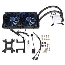 Graphics Card Water Cooling Radiator CPU Fan Water Liquid Dynamic Cooling System Mute Copper Aluminum Cooler Base For Intel/AMD