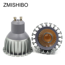 ZMISHIBO High Quality GU10 Spotlight LED Bulb 100-240V 5W 6W COB Aluminum Housing 50MM MR16 Cup 60 Beam Angle With Lens RA80