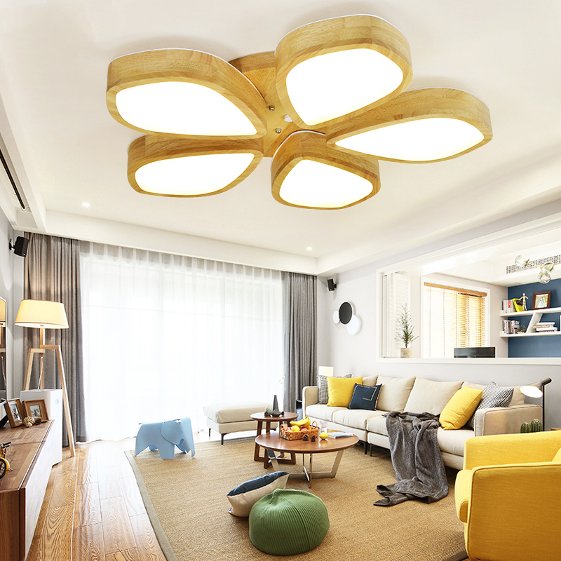 LEDceiling lights Simple modern bedroom lamp warm romantic energy-saving ceiling lamp Nordic home living room study lamp abaju