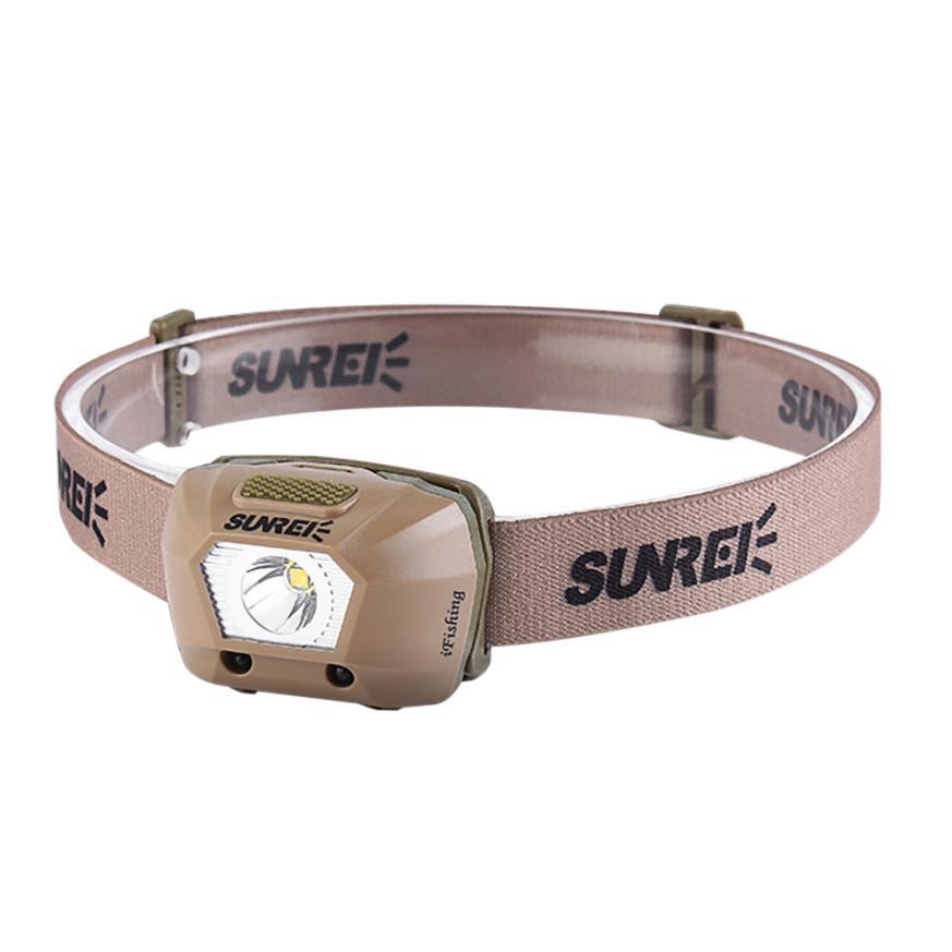 world wind #4001SUNREX ifishing USB Rechargeable Strong Light LED Waterproof Sensor Headlights