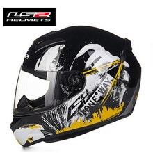 100% hakiki LS2 tam yüz kask DOT ECE onaylı LS2 ff352 motosiklet kask