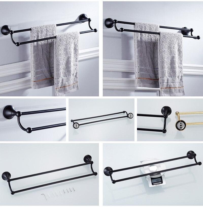 black double towel bar 3