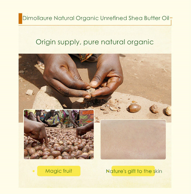 Dimollaure 50g-500g Organic Shea Butter Unrefined skin care Esential Oil handmade soap oil body massage oil DIY Base oil 4
