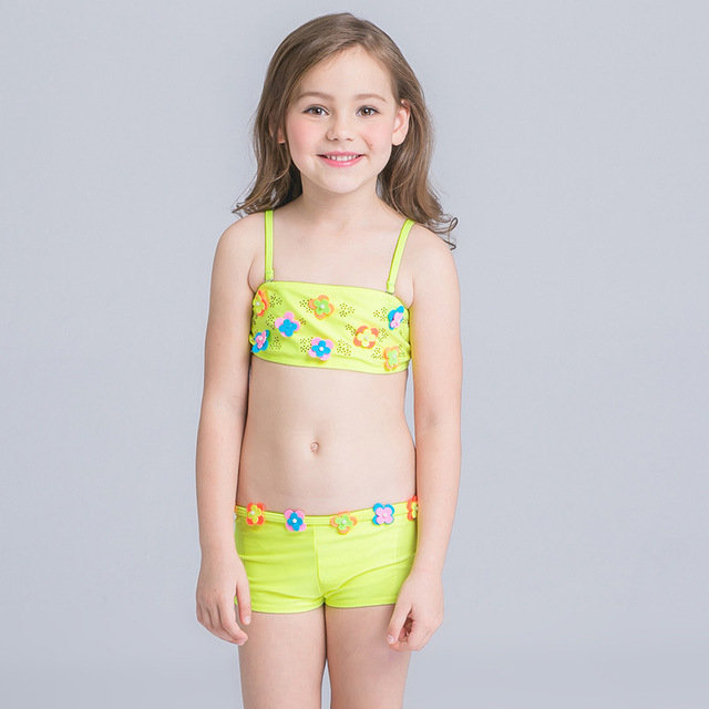 8b502d83a2 Free Shipping Bikini junior girls swimsuit cute little fish swimming suit  infant Girl Children Bathing Suit For Girls Swimwear