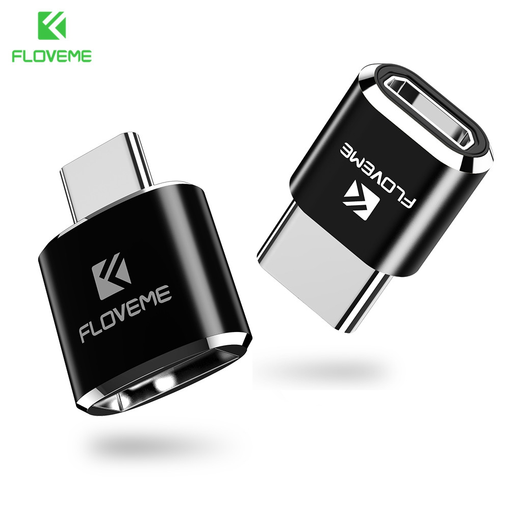 FLOVEME OTG USB Type C Adapter For Samsung Galaxy S8 S9 Plus Mini Micro USB 2.0 Female To Type-C Male Adapter For One Plus 5t