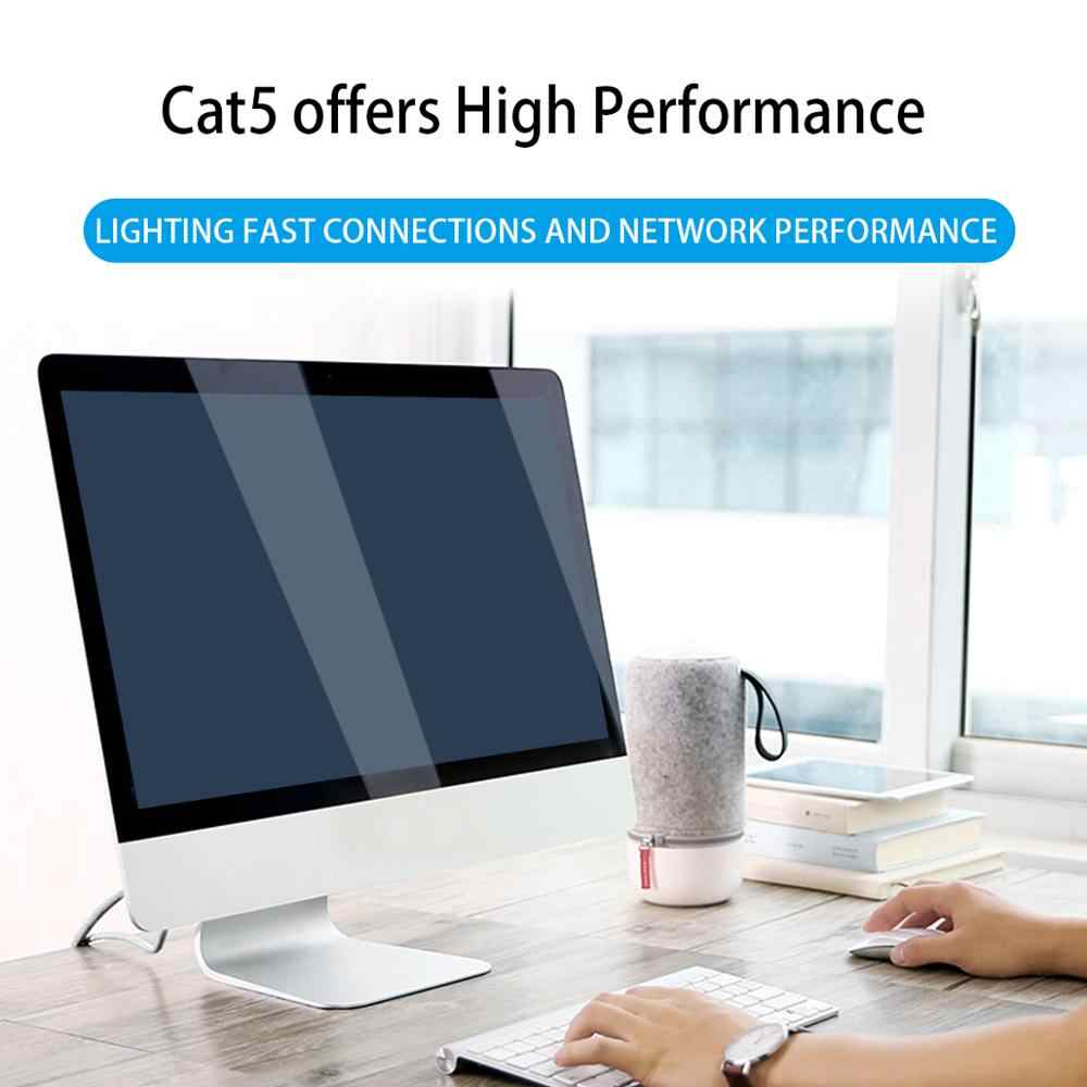 AMPCOM Ethernet כבל RJ45 Cat5e Lan כבל UTP חתול 5e RJ 45 רשת כבל תיקון כבל עבור מחשבים שולחניים מחשב נייד מודם נתב