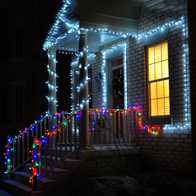 10 meter 100 LED string light Red Blue Green White Yellow AC220V EU plug  Christams holday New year Festival light free shipping - 10 Meter 100 LED String Light Red Blue Green White Yellow AC220V EU