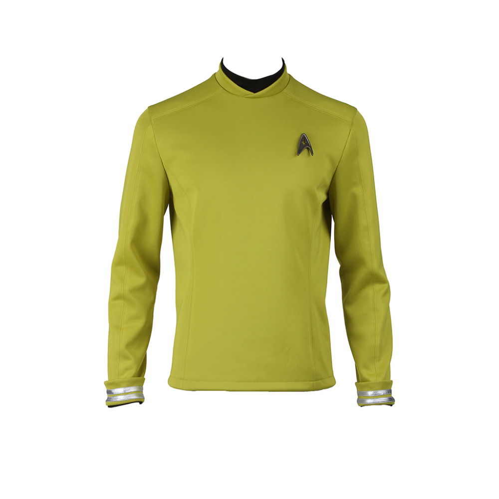 Star Trek Cosplay Star Trek Beyond Sulu Kirk Costume Commander Uniform Yellow Top Shirt Halloween Costume Cosplay