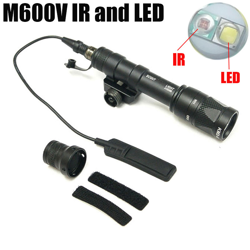 M600V IR Scout Light LED White Light Infrared Output with Pressure Switch Flashlight Picatinny Weapon Tactical