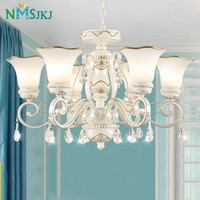 European Chandelier Living Room Lights Europe Crystal Modern Simple Garden Lamps American Iron Bedroom Restaurant Lights Nordic