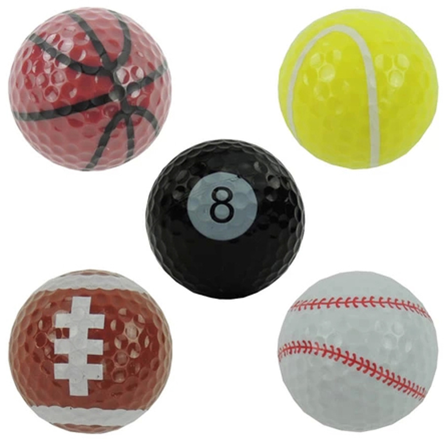 5pcs Sports golf balls Two piece ball for golf best gift for friend image