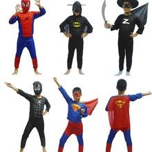 Детский карнавальный костюм супергероя, костюм для ролевых игр, вечерние костюмы на Хэллоуин, Супермен, красный человек-паук, Черный Человек-паук, Супермен, Зорро, Бэтмен