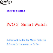 42mm Smartwatch fall IWO 3 Bluetooth Smart Uhr für IOS Telefon & Android Telefon Upgrade IWO 1:1 3rd Generation SmartWatch